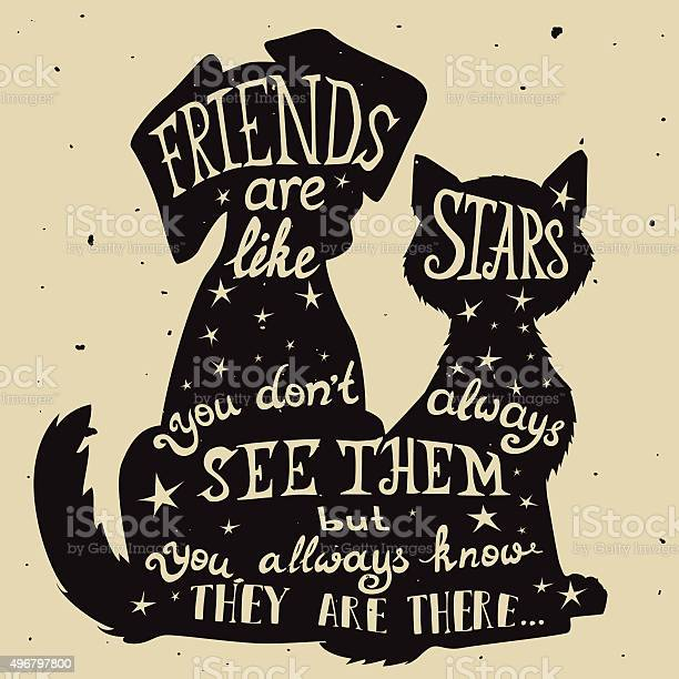 Cat and dog friends grungy card friendship day with quote vector id496797800?b=1&k=6&m=496797800&s=612x612&h=liqws8hcevslghdakykrdr92itr4vdrqyxjppadmg50=