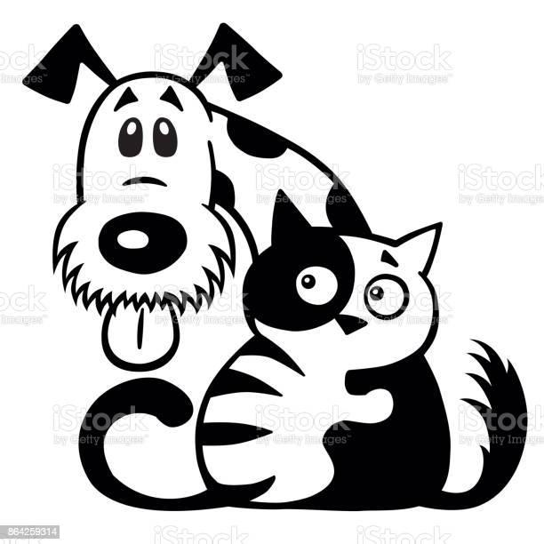 Cat and dog friendship black white vector id864259314?b=1&k=6&m=864259314&s=612x612&h=nrn6ypheysnrf3jg74 9qgiuimewnm6wat2ccbsdvya=