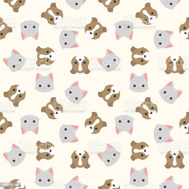 Cat and dog head seamless pattern for wallpaper or wrapping paper vector id993493964?b=1&k=6&m=993493964&s=612x612&h=8haw5pykz slofq8oxf0w4zieb87yj2omxlyspyol1o=