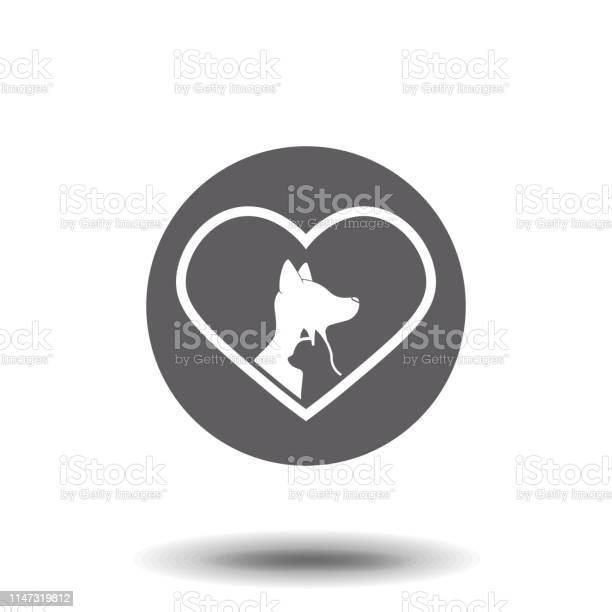 Cat and dog heart simple flat symbol illustration pictogram vector id1147319812?b=1&k=6&m=1147319812&s=612x612&h=52h whaga5yh fhuy2kp66oedmwujhflsrk7ao62ffi=