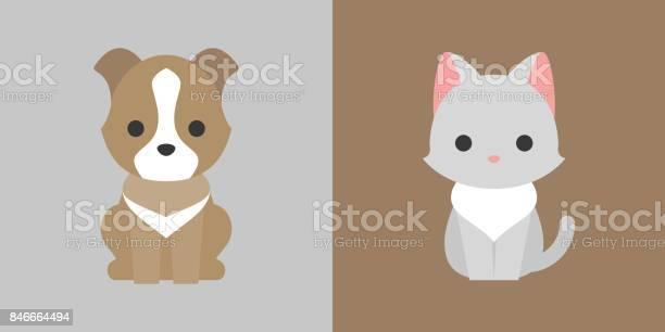 Cat and dog icon flat design pet shop concept vector id846664494?b=1&k=6&m=846664494&s=612x612&h=a4rwsuskhnkz d3zebmbe3xugyaebwgxg4t92aboewa=
