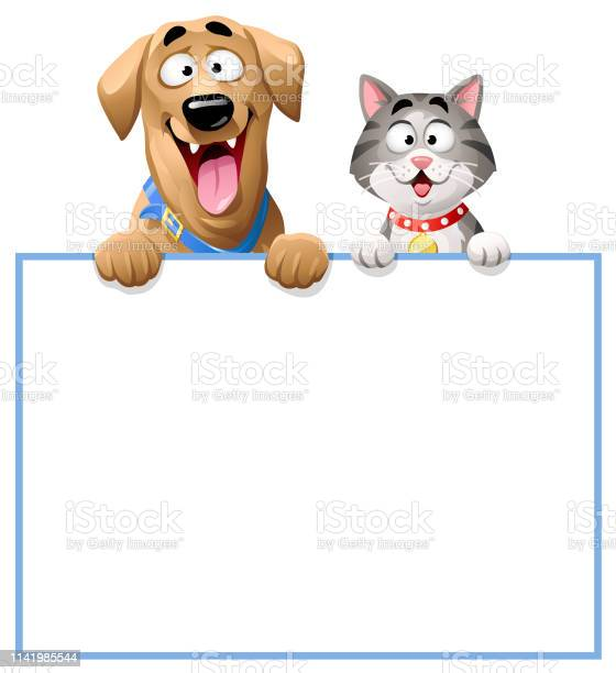Cat and dog peeking over blank sign vector id1141985544?b=1&k=6&m=1141985544&s=612x612&h=jhb8qehpopae5mlzn3bsukiltzeoj4dkthfqbqpakoc=