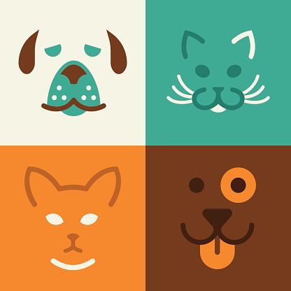 Cat and Dog Pet Symbols