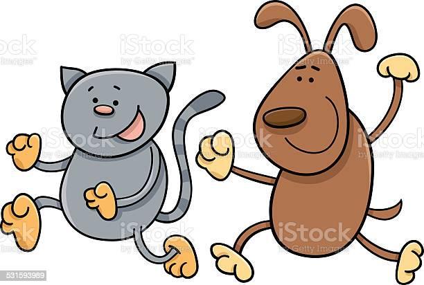 Cat and dog playing tag cartoon vector id531593989?b=1&k=6&m=531593989&s=612x612&h=fizt 37euhlyz vit plmkq5olvuzxh3nrni uqqrt4=