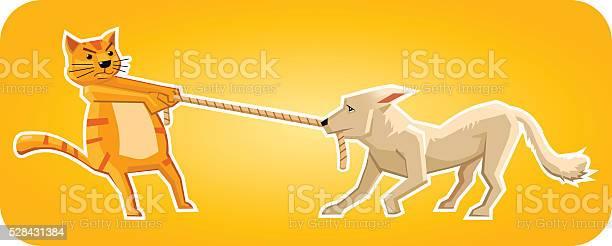 Cat and dog pulling a rope vector id528431384?b=1&k=6&m=528431384&s=612x612&h=ahcuho7vkxviljqxf eg7sr2i3ahfu4aq3kuttb lx8=