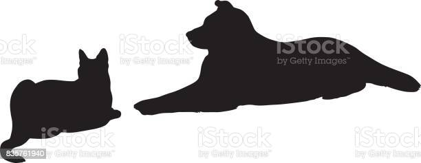 Cat and dog resting together silhouette vector id835761940?b=1&k=6&m=835761940&s=612x612&h=jloihyozzudhkuighbmcufrkynhl78xhoe2g7v03dro=