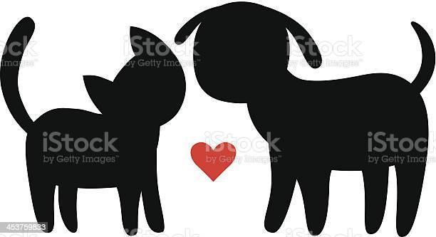 Cat and dog silhouettes vector id453759833?b=1&k=6&m=453759833&s=612x612&h=qad sglny9 mu u409vw3cnkkdiv 2nye09ptrubm5a=