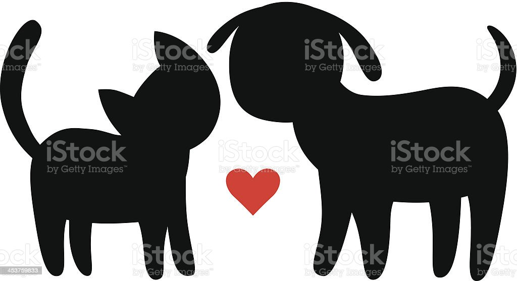 royalty free cat heart clip art vector images illustrations istock rh istockphoto com dog and cat paw prints clip art clipart cat dog fight