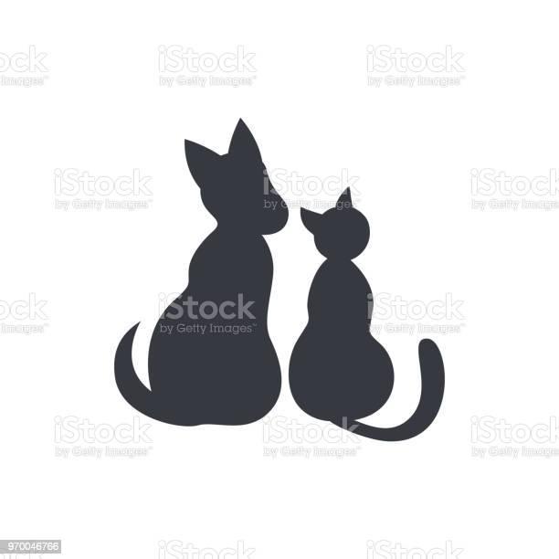 Cat and dog sitting silhouettes vector id970046766?b=1&k=6&m=970046766&s=612x612&h= kuamqei9wka9tv4u99baavbkt2eq6pksyrzbr 5xis=