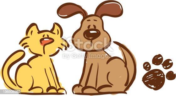 istock Cat and Dog 136508980