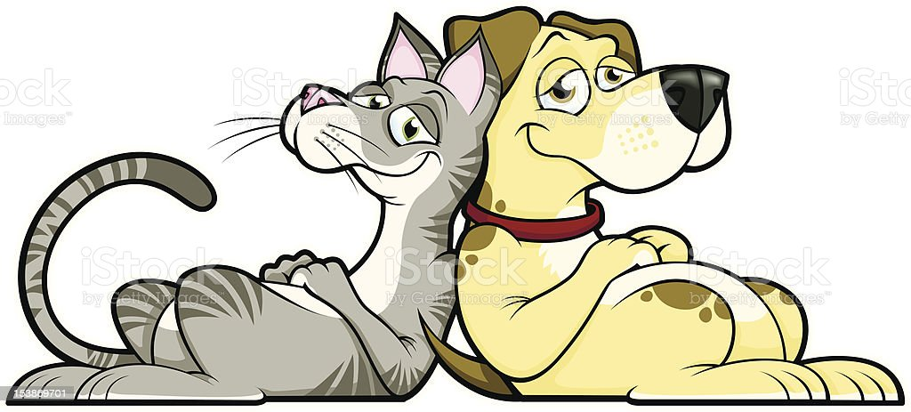 Cat and Dog royalty-free stock vector art