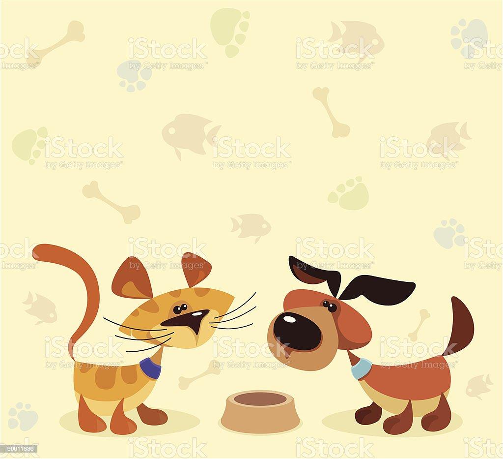 cat and dog - Royaltyfri Datorgrafik vektorgrafik