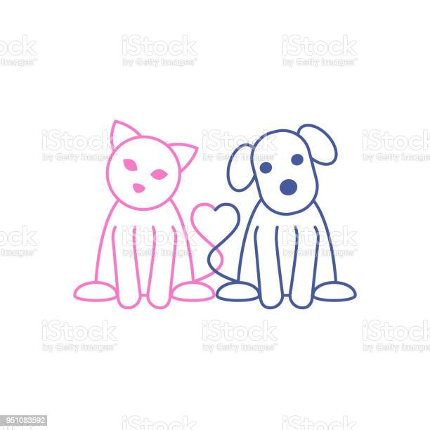 Cat and dog vector llustration vector id951083592?b=1&k=6&m=951083592&s=612x612&h=wval twafsrqpgvagxxqxaodap8loegtrowbzni3bdq=