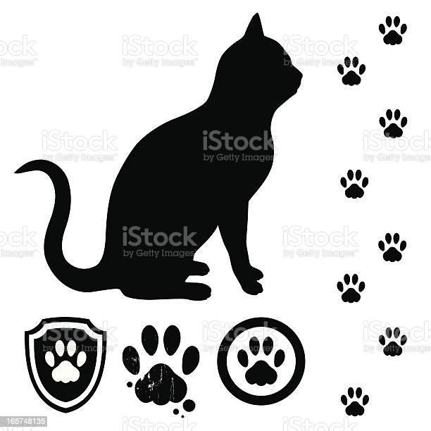 Cat and tracks vector id165748135?b=1&k=6&m=165748135&s=612x612&h=cjjoss5md156zgkxlcoruqfpr8eickbnferpan6l0re=