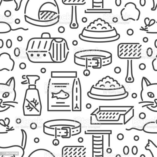 Cat and veterinary pet accessories outline icons seamless pattern vector id1136008696?b=1&k=6&m=1136008696&s=612x612&h=sooaxfkjoxhtc6qy5waq6nbzivrqivmsiyxiyfiuwly=