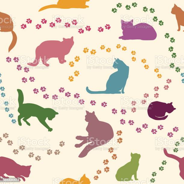 Cat background seamless pattern with cute playing kitten vector id534334474?b=1&k=6&m=534334474&s=612x612&h=36j1owdblsteo2p50xf 0k3mmwobo21ebdsxb rs4ii=