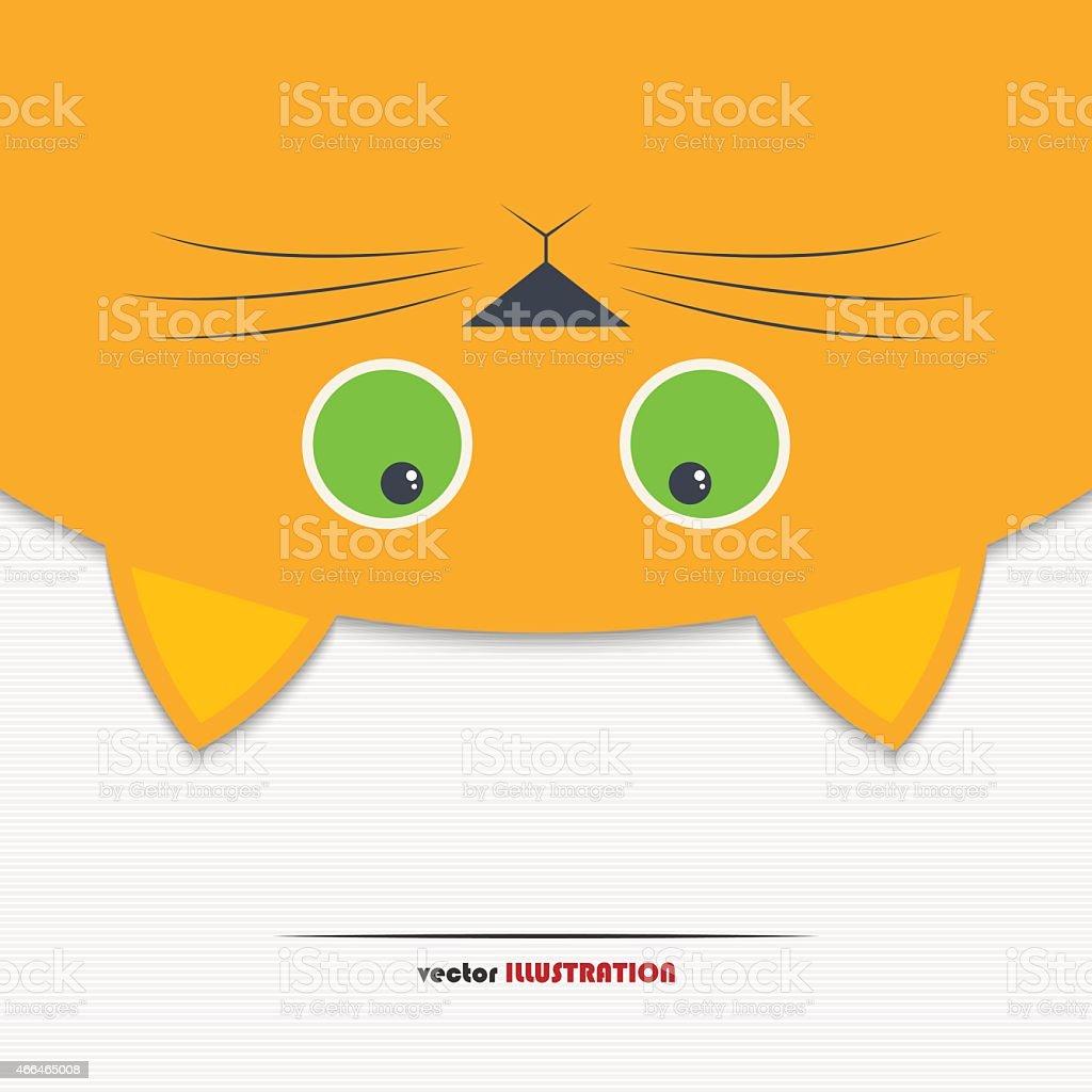 Cat background vector art illustration
