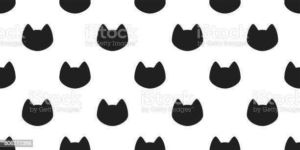 Cat black cat kitten head icon seamless pattern wallpaper background vector id806272386?b=1&k=6&m=806272386&s=612x612&h=2ykcbrklyyvnr2geng9dxztrct7ppsvzkv8 4egzbrw=