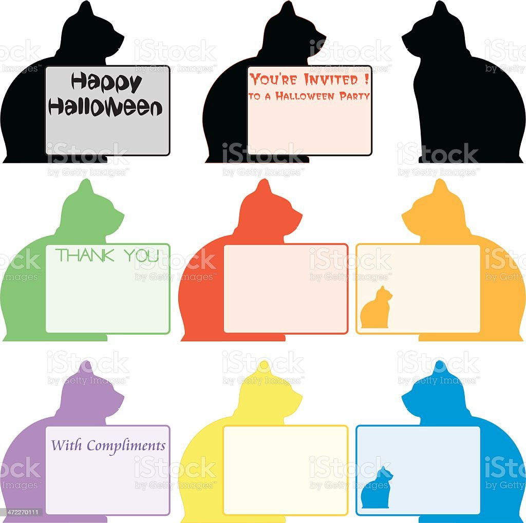 Cat Cards (Vector) royalty-free stock vector art