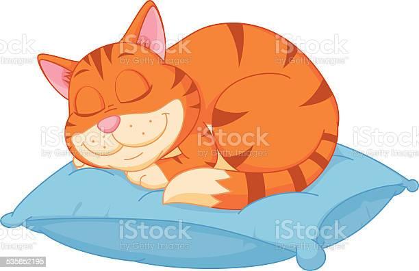Cat cartoon sleeping on a pillow vector id535852195?b=1&k=6&m=535852195&s=612x612&h=sauvcuvw2htdv1xgupnkhroctl4ysp16gptzznyesje=