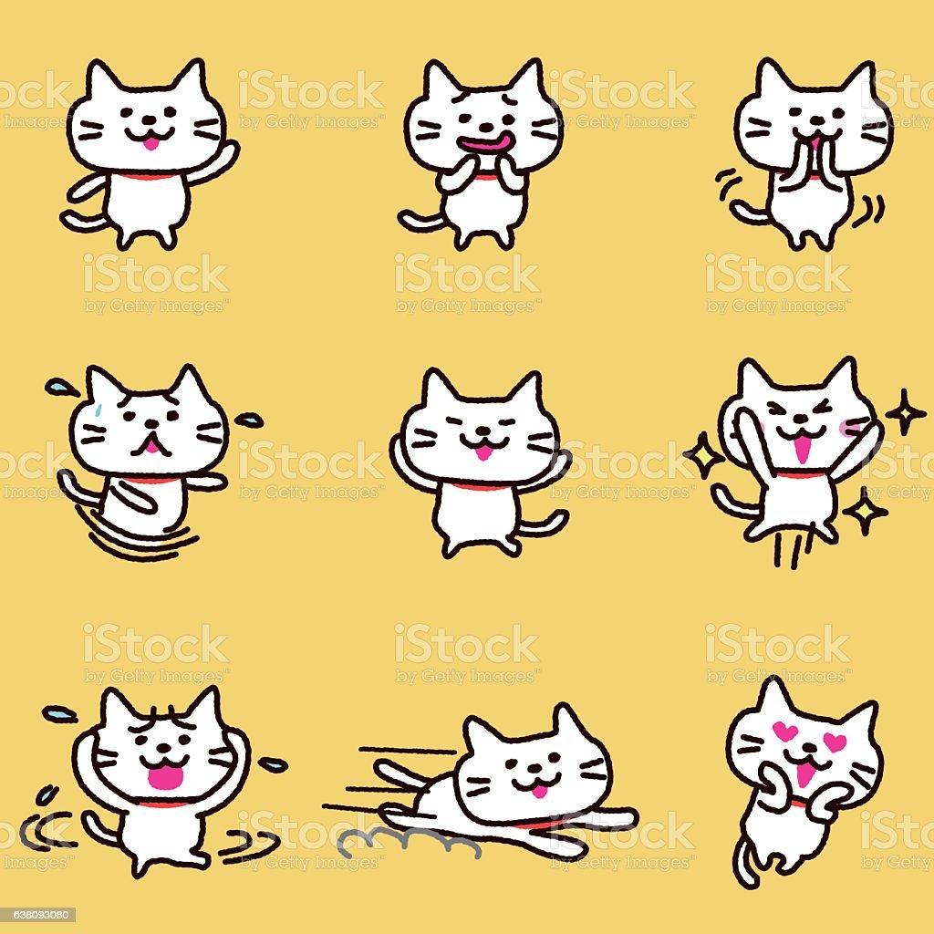 Caractère de chat - Illustration vectorielle
