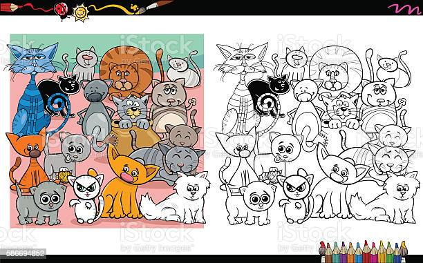 Cat characters coloring page vector id586694852?b=1&k=6&m=586694852&s=612x612&h=pkldmmp9ra03jw6zdvfochtaehggpuwlvay0aldd vy=