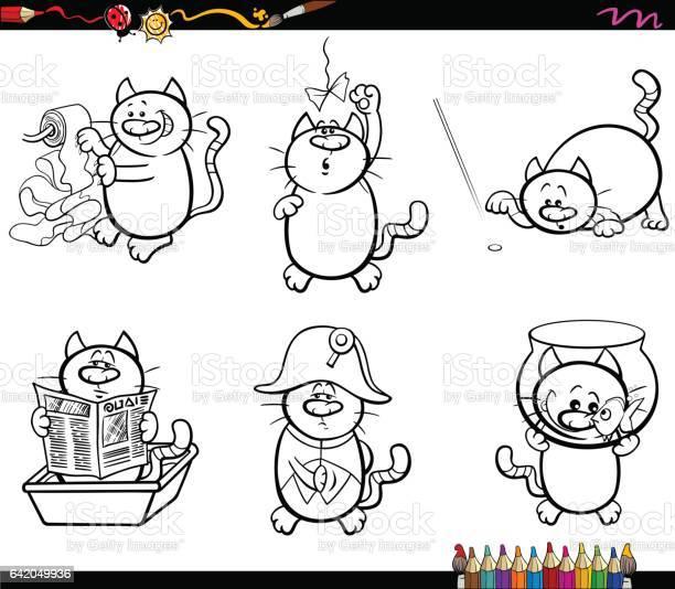 Cat characters coloring page vector id642049936?b=1&k=6&m=642049936&s=612x612&h=8itap90jdttewcdu17kgueq bukxxrucb4maf9 vxqk=