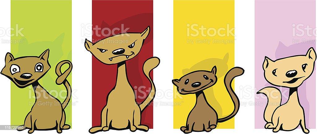 Cat-Kollektion – Vektorgrafik