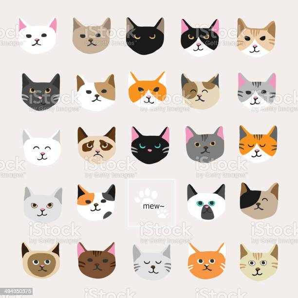 Cat Collection Stock Illustration - Download Image Now