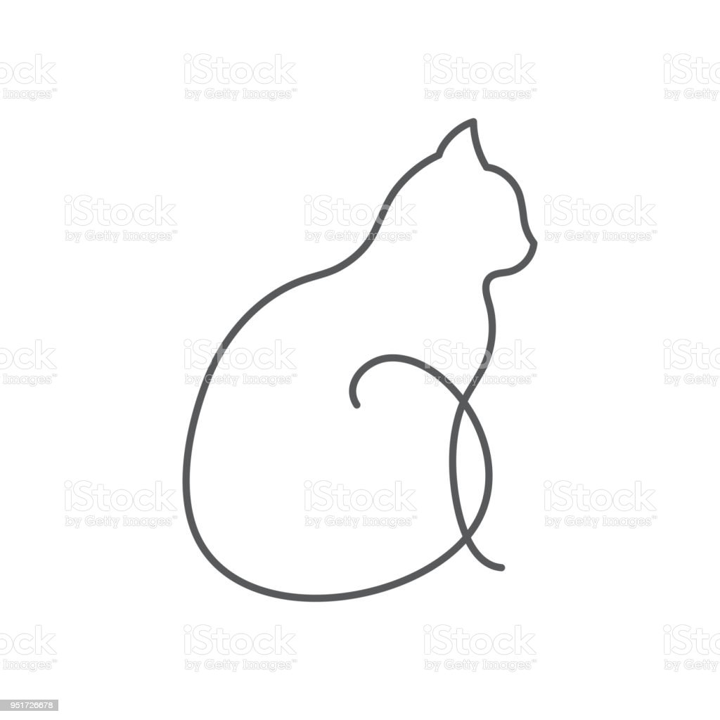This is a picture of Old Fashioned Line Drawing Saut De Chat