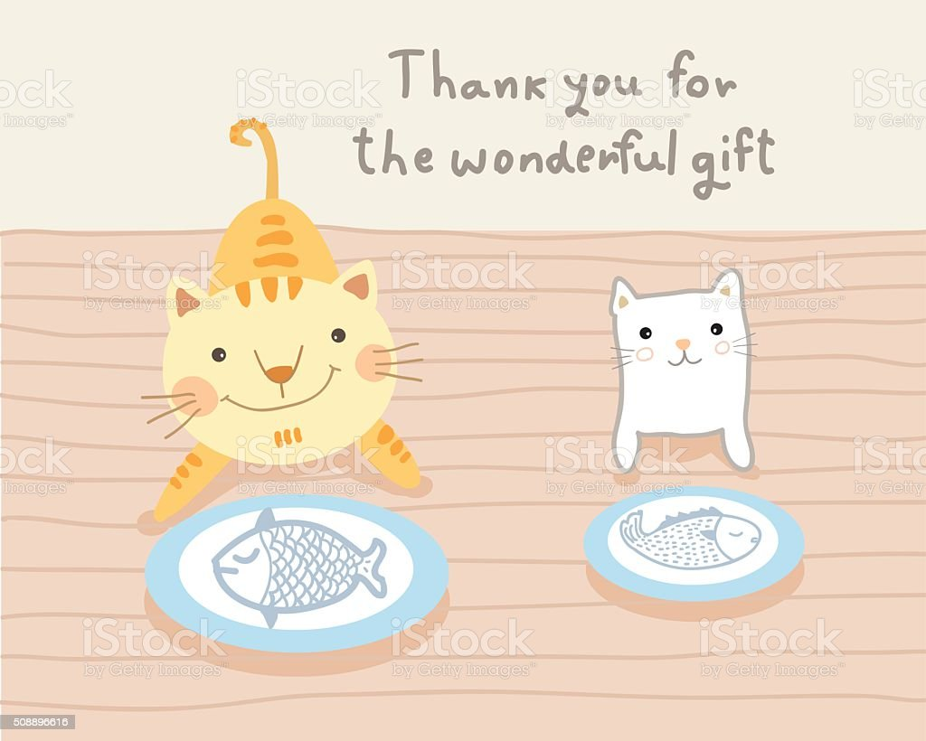 猫 カップルや素晴らしいギフトベクトルイラストレーション - 2匹の