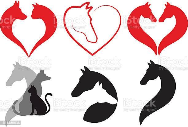 Cat dog horse heart vector set vector id511589636?b=1&k=6&m=511589636&s=612x612&h=e1pfcoroimbmfcben5ua7gpqvxt6 wqxhbambeh1zgs=