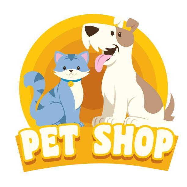 猫・犬ペット ショップ デザイン - ペットショップ点のイラスト素材/クリップアート素材/マンガ素材/アイコン素材