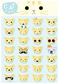 Cat emoji icons 2