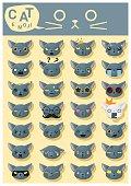 Cat emoji icons 5