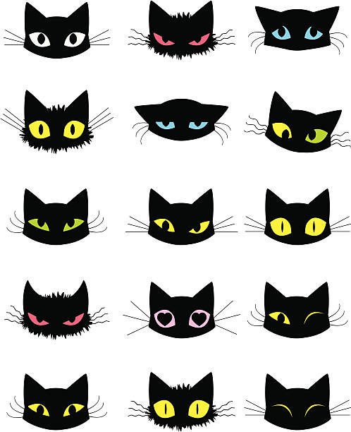 cat emoticons - 子猫点のイラスト素材/クリップアート素材/マンガ素材/アイコン素材
