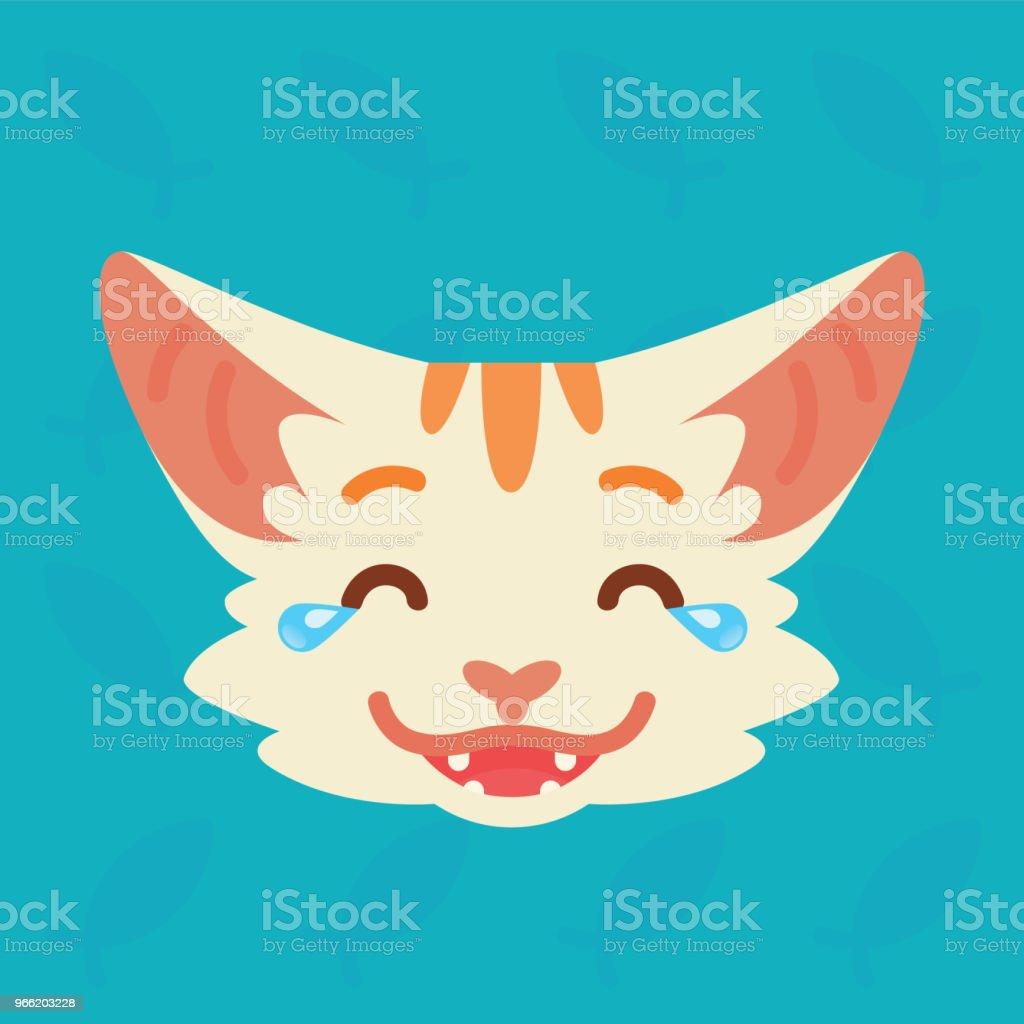 猫の感情的な頭かわいいキティの...