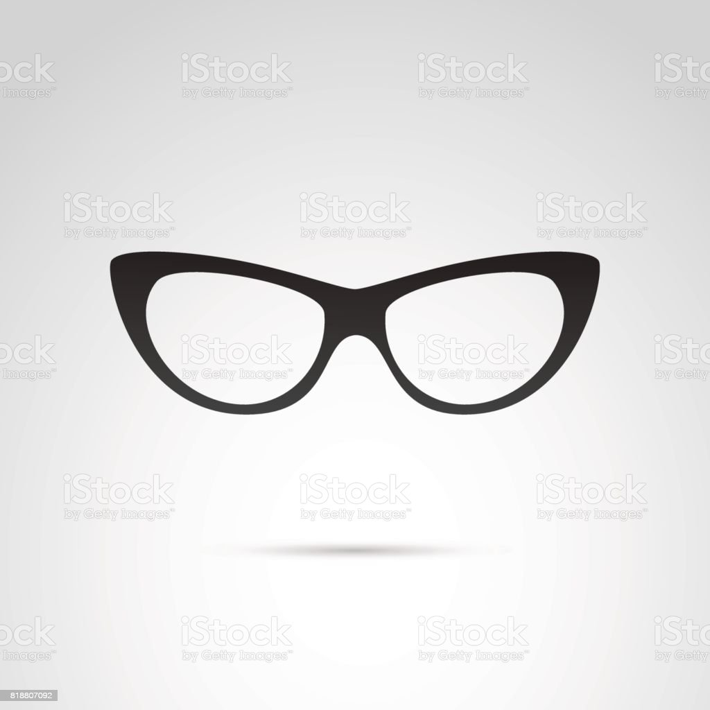 4bc21ef6320 Cat eye glasses vector icon. royalty-free cat eye glasses vector icon stock  vector