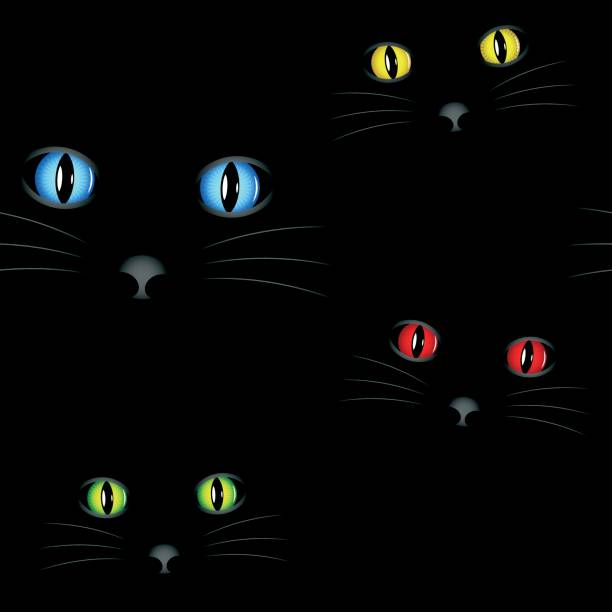 Cat eyes seamless vector wallpaper vector art illustration
