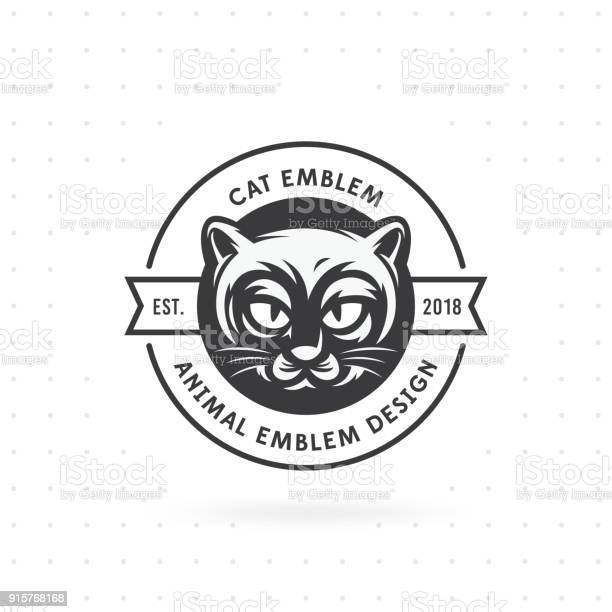 Cat face emblem and label vector illustration vector id915768168?b=1&k=6&m=915768168&s=612x612&h=ij613wfqvyeci1tfied ey7dvklei0pz5uumafyccfi=
