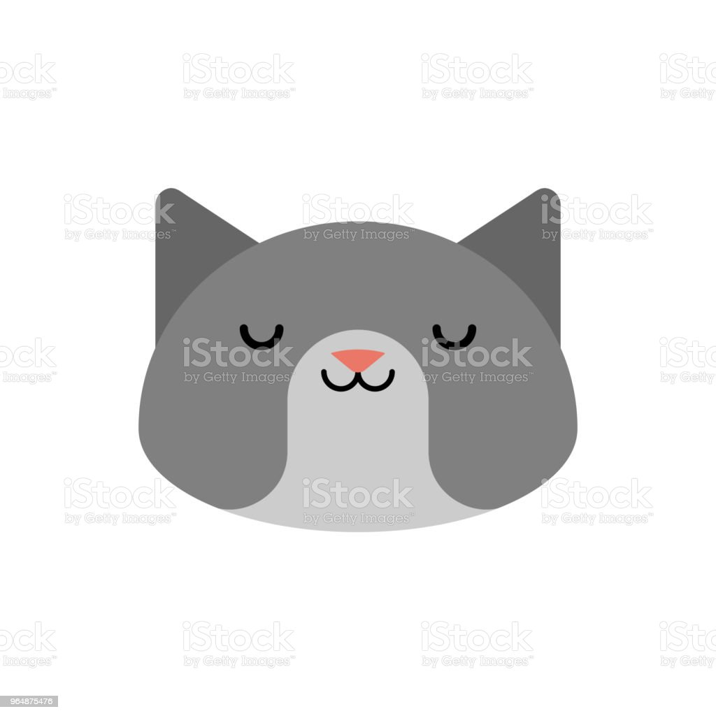 Cat face isolated. Pet head vector illustration royalty-free cat face isolated pet head vector illustration stock vector art & more images of animal