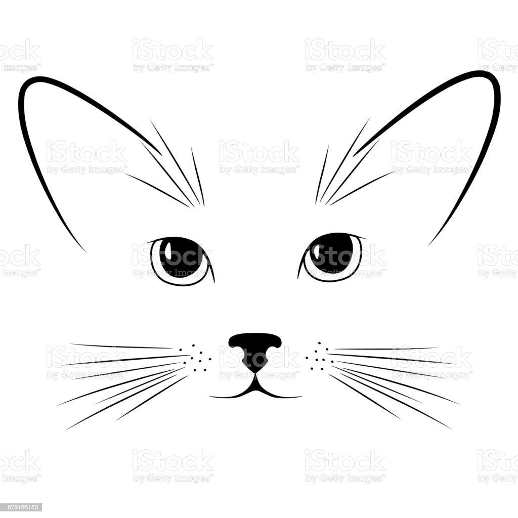 猫顔子猫動物耳鼻口ひげかわいいペットボトルのベクター イラストです