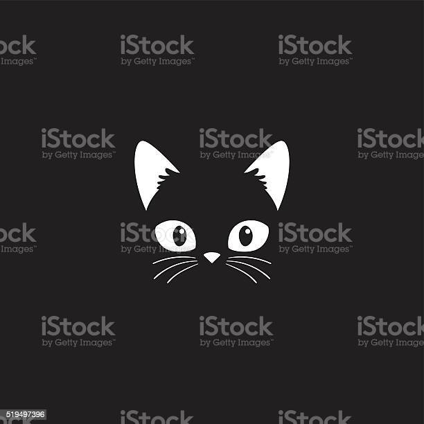 Cat face on black vector id519497396?b=1&k=6&m=519497396&s=612x612&h=57l5 fv8cfq10ki8rhz10gypfbq nqezpyolrdprty8=