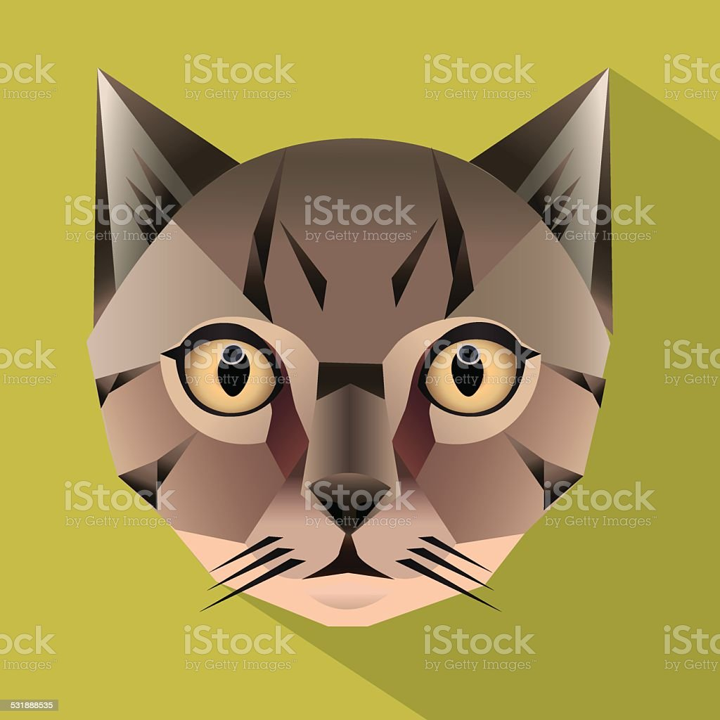 Cat face vector vector art illustration