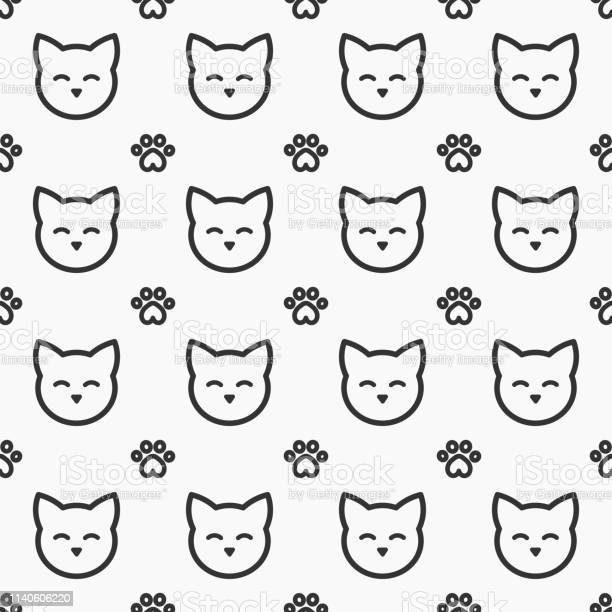 Cat faces and paws seamless pattern vector id1140606220?b=1&k=6&m=1140606220&s=612x612&h=qx5zwxr6rillwhoaxha1nmguvroa2os1lznbq33dvuk=