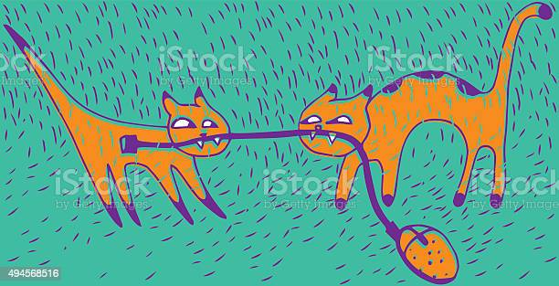 Cat fightfunny doodle wallpaper vector id494568516?b=1&k=6&m=494568516&s=612x612&h= iqomexngnau7 gdwwogcjnihtbc3 x0tjl1lysj83i=