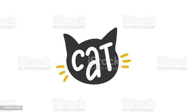 Cat handwritten vector lettering unique hand drawn nursery poster vector id1153467761?b=1&k=6&m=1153467761&s=612x612&h= 2 ztkysd6dx08kxibpanh0a1ks rjsh2uko9b9m9ii=