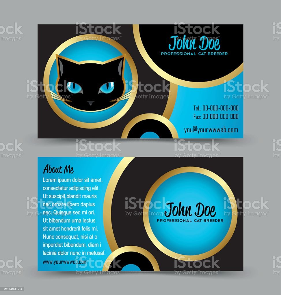Cat head theme business card stock vector art 521453173 istock banner sign commercial sign internet message sale cat head theme business card magicingreecefo Images