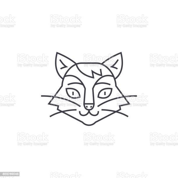 Cat head vector line icon sign illustration on background editable vector id859289046?b=1&k=6&m=859289046&s=612x612&h=w1xcrwoduxeybattekjxmbh zmasjdi0rxxixi zpj4=
