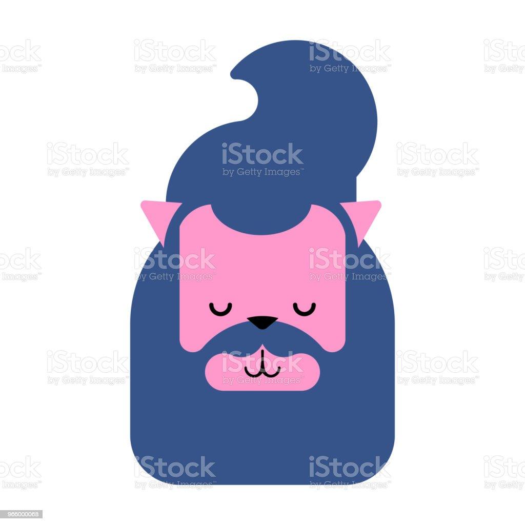 Katze-Hipster Gesicht. Modische Haar und Tunneln in Ohren auf Pet. Vektor-illustration - Lizenzfrei Auge Vektorgrafik